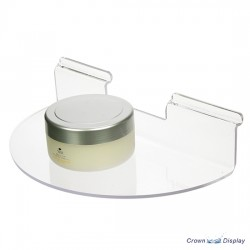 Acrylic semi-circular shelf