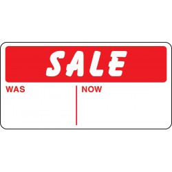 "Adhesive labels ""Sale was/now"""