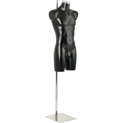 Aquarius display forms male, black finish with Stand