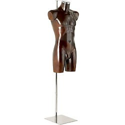 Aquarius display forms male, leather-paint finish with Stand