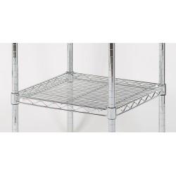 Chrome shelving square shelf