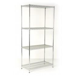 Chrome shelving wire shelves