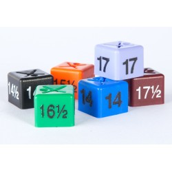 Collar-size size cubes in packs of 50 cubes