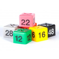 Dress-size size cubes in packs of 50 cubes