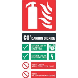 Fire equipment signs co2