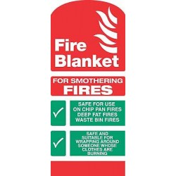 Fire equipment signs fire blanket