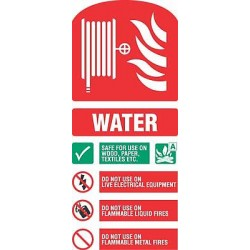 Fire equipment signs water hose