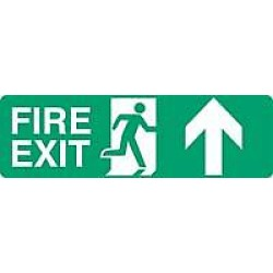 Fire Exit is straight on from here or straight on and up from here