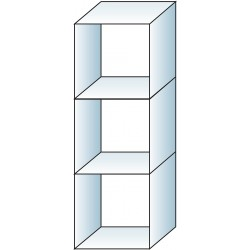 Glass cube unit 3 cube