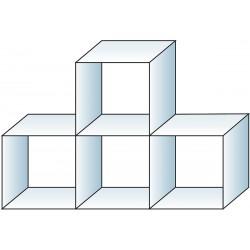 Glass cube unit 4 cube