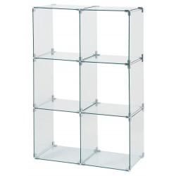 Glass cube unit 6 cube