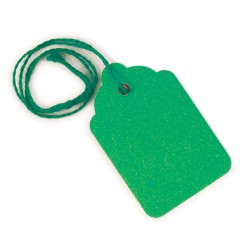Green strung tags