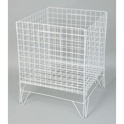 Large fold flat dump basket