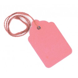 Pink strung tags