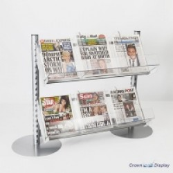 Queue Management Newspaper Shelf