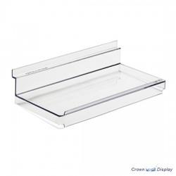 REDUCED Acrylic Slatwall Shelf with Lip (x10)
