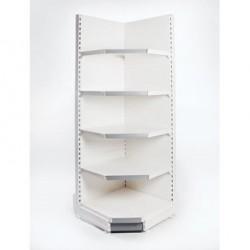 Retail Shelving Wall 90° Corner Unit - 4 x 370 mm Shelves