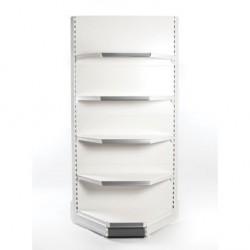Retail Shelving Wall 90/45° Corner Unit - 4 x 370 mm Shelves