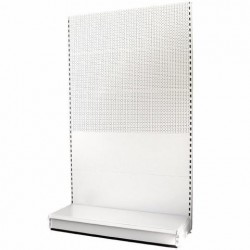 Retail Shelving Wall Unit - Plain & Perforated Panels - W1000 mm