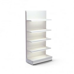 Retail Wall Shelving Unit - LED Lighting, 4 x 370 mm Shelves