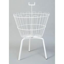 Round dump basket white