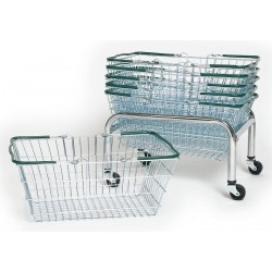 Self service shopping basket wire