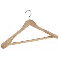 Shaped suit hanger wooden