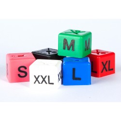Size cubes, sized by letter - pack of 50