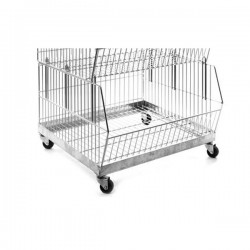 Stacking Basket Stand with Castors
