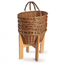 Wicker Shopping Basket Stand