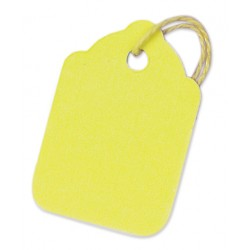Yellow strung tags